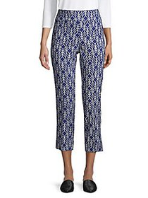 Context Printed High-Rise Cropped Pants TWILIGHT N