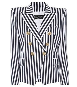 Balmain Striped cotton blazer