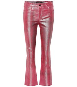 J Brand Selena mid-rise crop leather pants