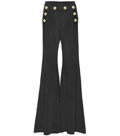 Balmain Embellished high-rise pants