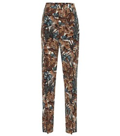 Salvatore Ferragamo Printed silk chiffon pants