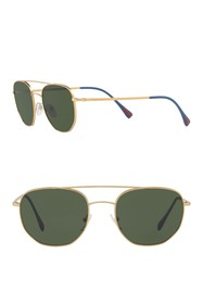 PRADA LINEA ROSSA Irregular Aviator 53mm Sunglasse