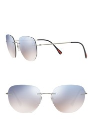 PRADA LINEA ROSSA Irregular 57mm Sunglasses