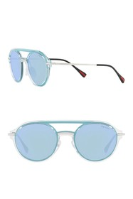 PRADA LINEA ROSSA Oval 51mm Sunglasses
