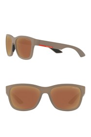 PRADA LINEA ROSSA Rectangle 57mm Sunglasses