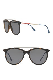PRADA LINEA ROSSA Pillow Square 54mm Sunglasses