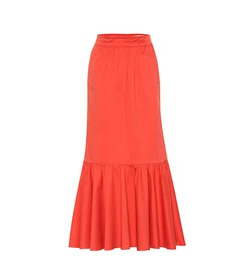 Johanna Ortiz Stretch cotton midi skirt