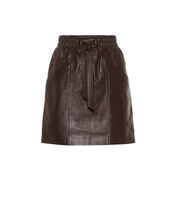 Coach Belted leather miniskirt