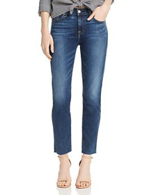 7 For All Mankind - Roxanne Raw-Hem Ankle Jeans in