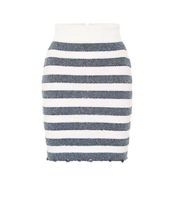 Balmain Striped knit miniskirt