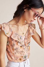 Anthropologie Wildflower Cropped Top