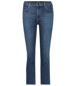 J Brand Ruby cropped high-rise jeans