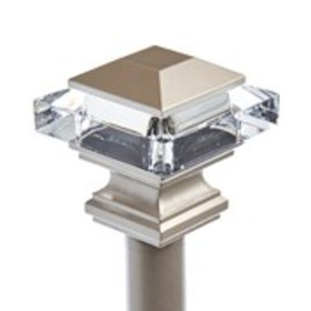 """Square Crystal Lamppost Curtain Rod 66"""" - 120"""""""