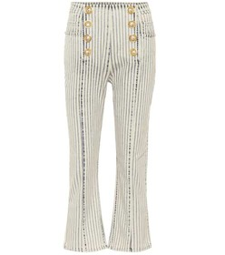 Balmain High-rise cropped jeans