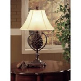 """Pine Creek 30.5"""" Table Lamp with Bell Shade"""