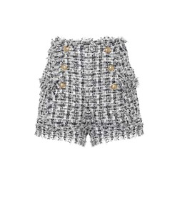 Balmain Bouclé tweed shorts