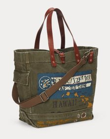 Ralph Lauren Cotton Military Tote