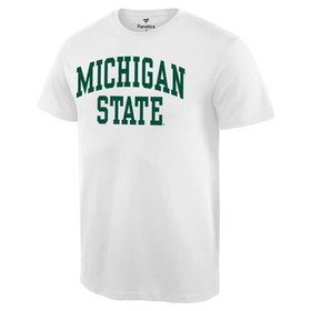 Michigan State Spartans Basic Arch T-Shirt - White