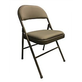 Realspace Upholstered Padded Folding Chair Tan