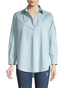 French Connection Poplin Pullover Blouse PAVILION