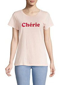 French Connection Cherie Graphic T-Shirt BARELY PI