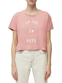 French Connection La Vie En Rose Crop Tee PINK