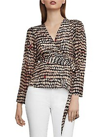 BCBGMAXAZRIA Sandy Dots Wrap Top SANDY DOTS