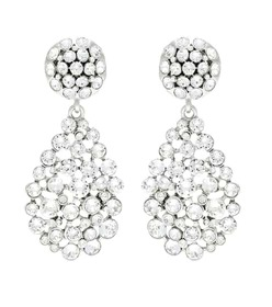 Oscar de la Renta Crystal-embellished clip-on earr