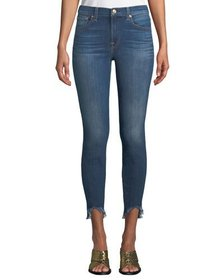 7 For All Mankind Gwenevere High-Rise Raw-Hem Jean