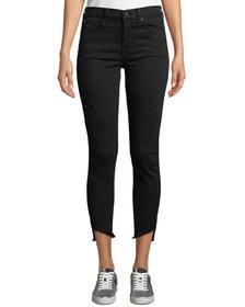 7 For All Mankind Gwenevere High-Waist Raw Step-He