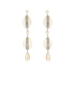 Etro Shell and crystal drop earrings