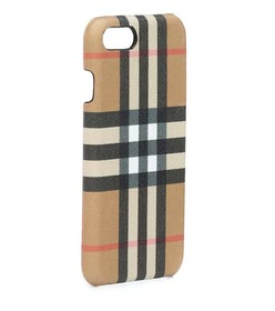Burberry Checked leather iPhone 8 case