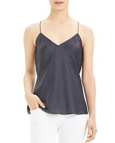 Theory - Striped Silk Camisole Top