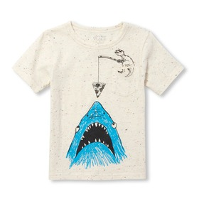 Baby And Toddler Boys Short Sleeve Graphic Pocket