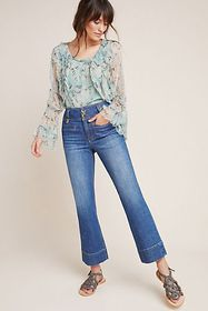 Anthropologie Pilcro High-Rise Cropped Flare Jeans