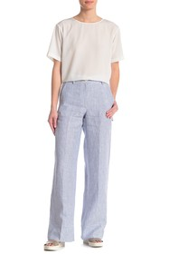 Theory Striped Carpenter Linen Pants
