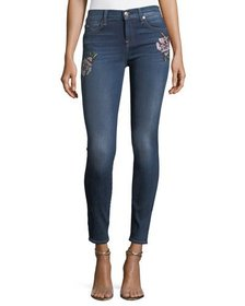 7 For All Mankind The Skinny Jeans w/ Needlepoint