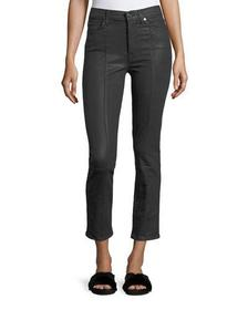 7 For All Mankind Edie Skinny Coated Pants