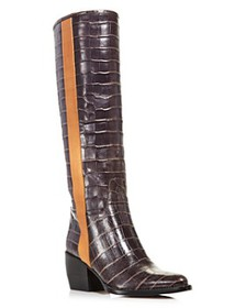 Chloé - Women's Vinny Croc-Embossed Leather Tall B
