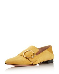 Bally - Women's Buckle Suede Loafers