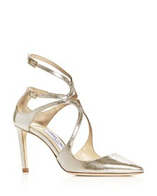 Jimmy Choo - Women's Lancer 85 Strappy Pointed-Toe