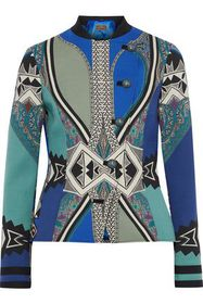 ETRO Double-breasted printed stretch-wool crepe ja