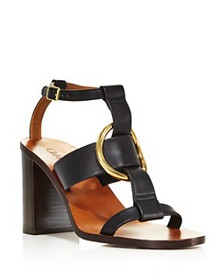Chloé - Women's Rony Leather T-Strap Sandals