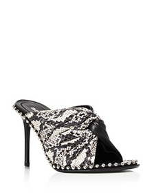 Alexander Wang - Women's Lily Snake & Leather Open