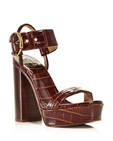 Chloé - Women's Roy Croc-Embossed Leather High-Hee