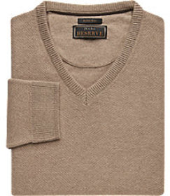 Jos Bank Reserve Collection Wool Blend V-Neck Swea