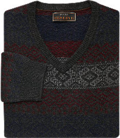 Jos Bank Reserve Collection Wool Blend Fair Isle S