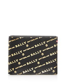 Bally - Embossed Leather Bi-Fold Wallet