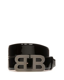 Bally - Men's Mirror B Buckle Patent Leather Belt