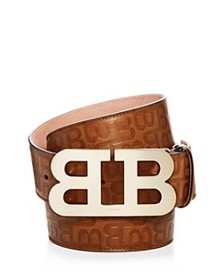 Bally - Men's Mirror B Buckle Embossed Leather Bel